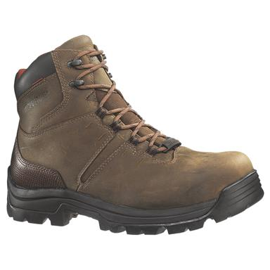 Men's Wolverine® 6 inch Bonaventure Waterproof Steel Toe EH Work Boots, Brown