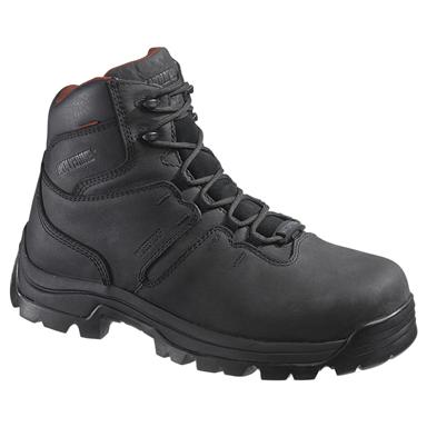 Men's Wolverine® 6 inch Bonaventure Waterproof Steel Toe EH Work Boots, Black