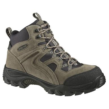 Men's Wolverine® Brighton Mid-cut Steel Toe Slip-resistant EH Hiker Work Boots, Hedge / Black