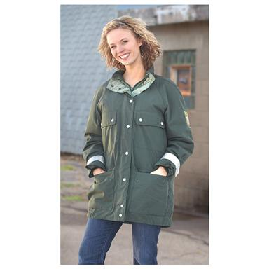 Used Women's German Military Surplus GORE-TEX® Police Parka, Green