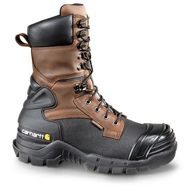 "Men's Carhartt® 10"" Waterproof 1,000-gram LiteFire™ Insulation Composite Toe Pac Boots, Brown"