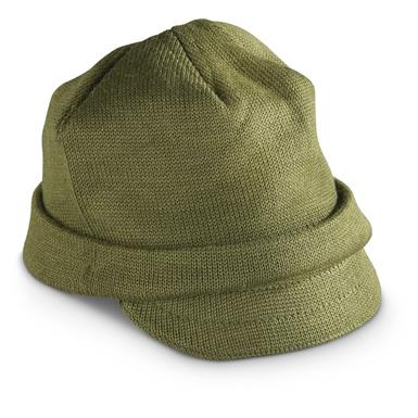 3 New Italian Military Surplus Wool Jeep Caps