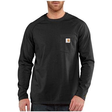 Carhartt Force Cotton Long-sleeved T-shirt, Black