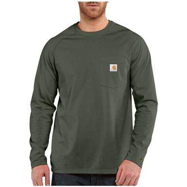 Carhartt Force Cotton Long-sleeved T-shirt, Moss
