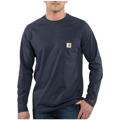 Carhartt Force Cotton Long-sleeved T-shirt, Navy