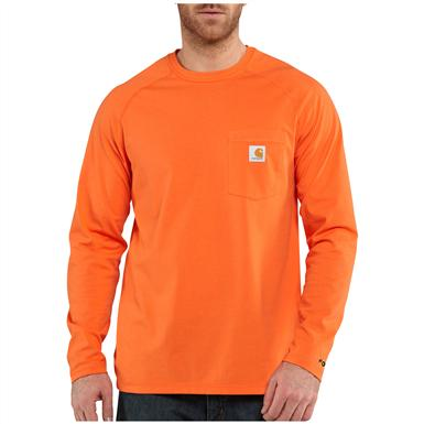 Carhartt Force Cotton Long-sleeved T-shirt, Orange