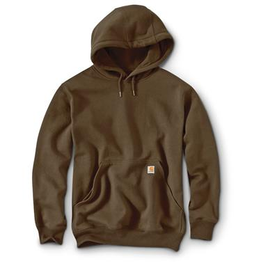 Carhartt Rain Defender Paxton Heavyweight Hooded Sweatshirt, Dark Brown