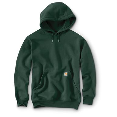 Carhartt Rain Defender Paxton Heavyweight Hooded Sweatshirt, Dark Green
