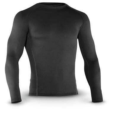 Under Armour Men's Base 2.0 Crew Long Sleeve Shirt, Black
