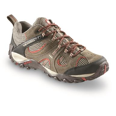 Merrell Men's Yokota Trail Low Hiking Shoes, Bungee / Red Ochre