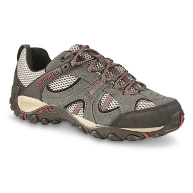 Merrell Men's Yokota Trail Low Hiking Shoes, Vent/Granite/Red Ochre