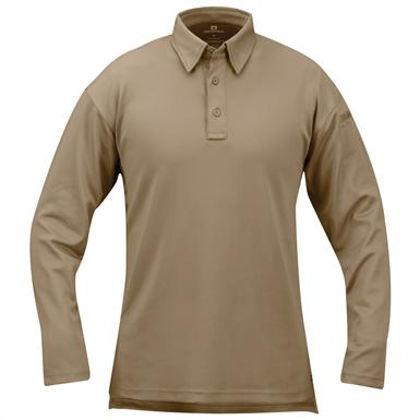 Men's Propper™ I.C.E.™ Long-sleeved Performance Polo Shirt, Silver Tan
