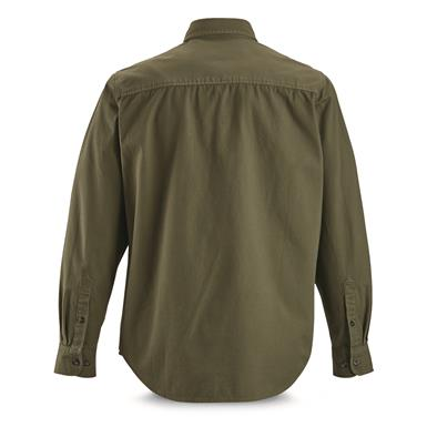 Guide Gear Men's Long-Sleeve Canvas Shirt, Olive