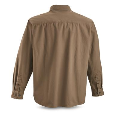 Guide Gear Men's Long-Sleeve Canvas Shirt, Taupe