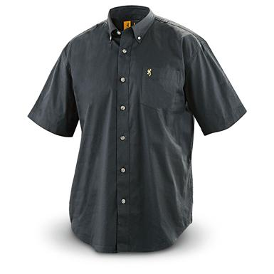 Browning Wrinkle-resistant Short-sleeved Twill Shirt, Black