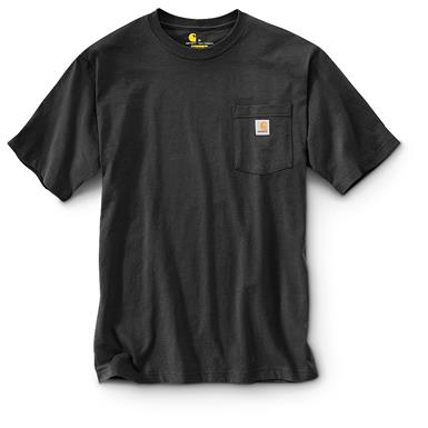 Carhartt Men's Workwear Pocket Short Sleeve T-Shirt, Black