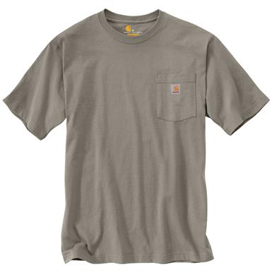 Carhartt Men's Workwear Pocket Short Sleeve T-Shirt, Desert