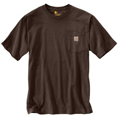 Carhartt Men's Workwear Pocket Short Sleeve T-Shirt, Dark Brown