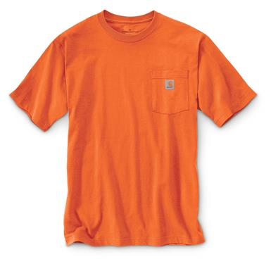 Carhartt Men's Workwear Pocket Short Sleeve T-Shirt, Orange
