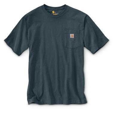 Carhartt Men's Workwear Pocket Short Sleeve T-Shirt, Bluestone