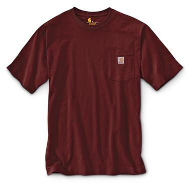 Carhartt Men's Workwear Pocket Short Sleeve T-Shirt, Port