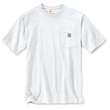Carhartt Men's Workwear Pocket Short Sleeve T-Shirt, White