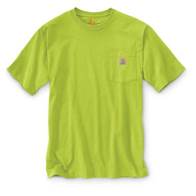 Carhartt Men's Workwear Pocket Short Sleeve T-Shirt, Sour Apple