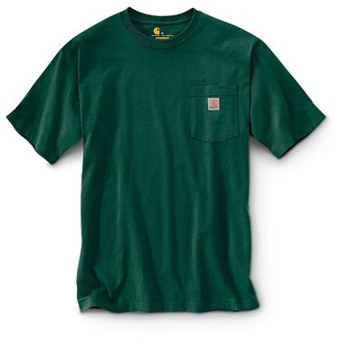 Carhartt Men's Workwear Pocket Short Sleeve T-Shirt, Hunter Green