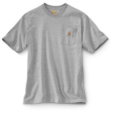 Carhartt Men's Workwear Pocket Short Sleeve T-Shirt, Heather Grey