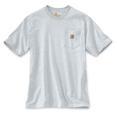 Carhartt Men's Workwear Pocket Short Sleeve T-Shirt, Ash