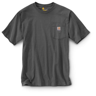 Carhartt Men's Workwear Pocket Short Sleeve T-Shirt, Charcoal