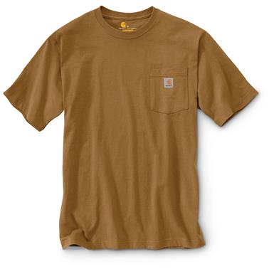 Carhartt Men's Workwear Pocket Short Sleeve T-Shirt, Carhartt Brown