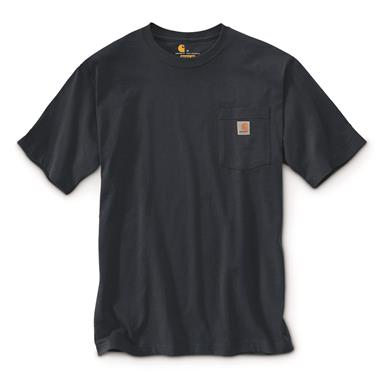 Carhartt Men's Workwear Pocket Short Sleeve T-Shirt, Navy