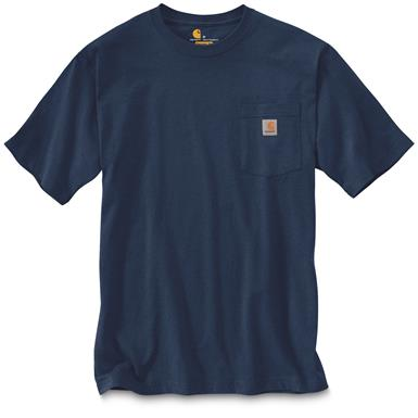Carhartt Men's Workwear Pocket Short Sleeve T-Shirt, Cobalt Blue