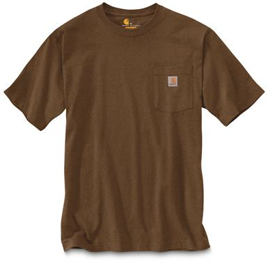 Carhartt Men's Workwear Pocket Short Sleeve T-Shirt, Barrel Heather
