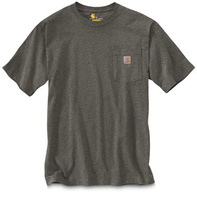 Carhartt Men's Workwear Pocket Short Sleeve T-Shirt, Carbon Heather
