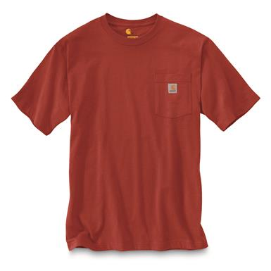 Carhartt Men's Workwear Pocket Short Sleeve T-Shirt, Chili