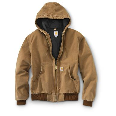 Carhartt Men's Quilted Flannel-Lined Active Jacket, Carhartt Brown
