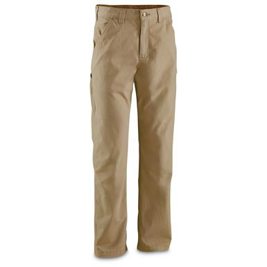 Carhartt Men's Washed Twill Relaxed Fit Work Pants, Dark Khaki