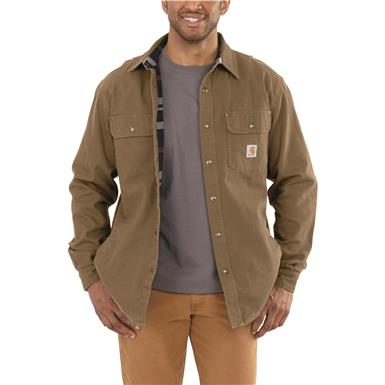 Carhartt® Weathered Canvas Shirt Jacket, Frontier Brown