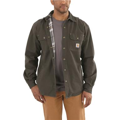 Carhartt® Weathered Canvas Shirt Jacket, Peat