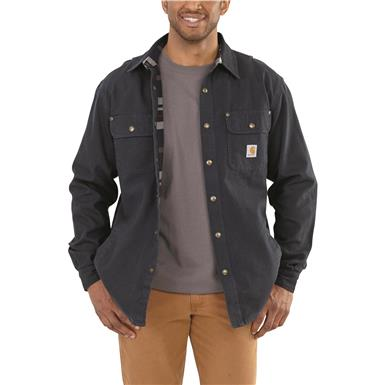 Carhartt® Weathered Canvas Shirt Jacket, Navy