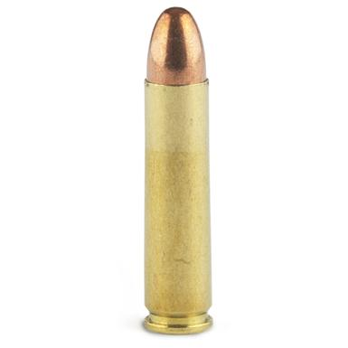Lead bullet with full nickel-plated copper jacket. WON'T EXPAND.