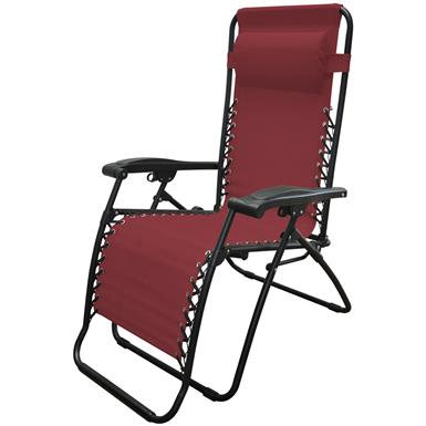 Caravan Sports Infinity Zero Gravity Reclining Lounge Chair, Burgundy