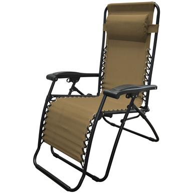 Caravan Sports Infinity Zero Gravity Reclining Lounge Chair, Beige