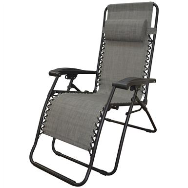 Caravan Sports Infinity Zero Gravity Reclining Lounge Chair, Gray