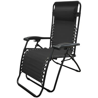 Caravan Sports Infinity Zero Gravity Reclining Lounge Chair, Black