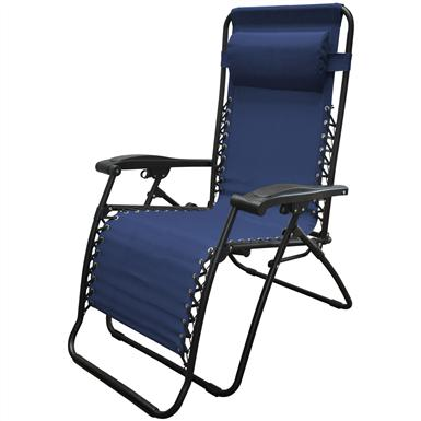 Caravan Sports® IInfinity Oversized Portable Zero Gravity Reclining Lounge Chair, Blue