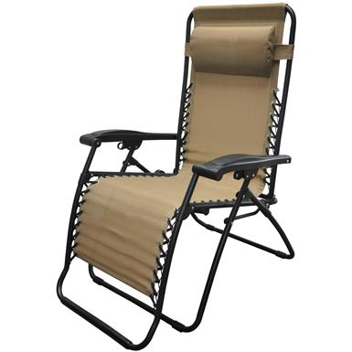 Caravan Sports® Infinity Oversized Portable Zero Gravity Reclining Lounge Chair, Beige
