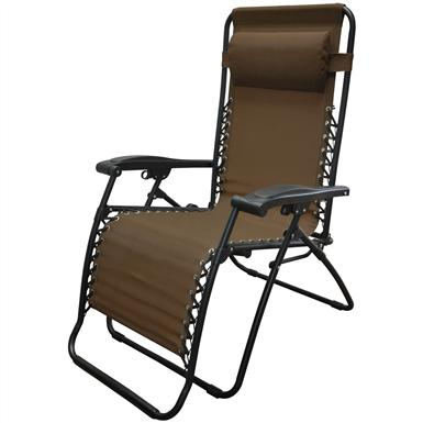 Caravan Sports® Infinity Oversized Portable Zero Gravity Reclining Lounge Chair, Espresso